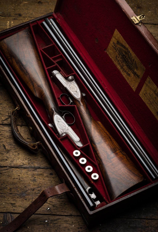 Pair of William Powell 12g Game Guns.