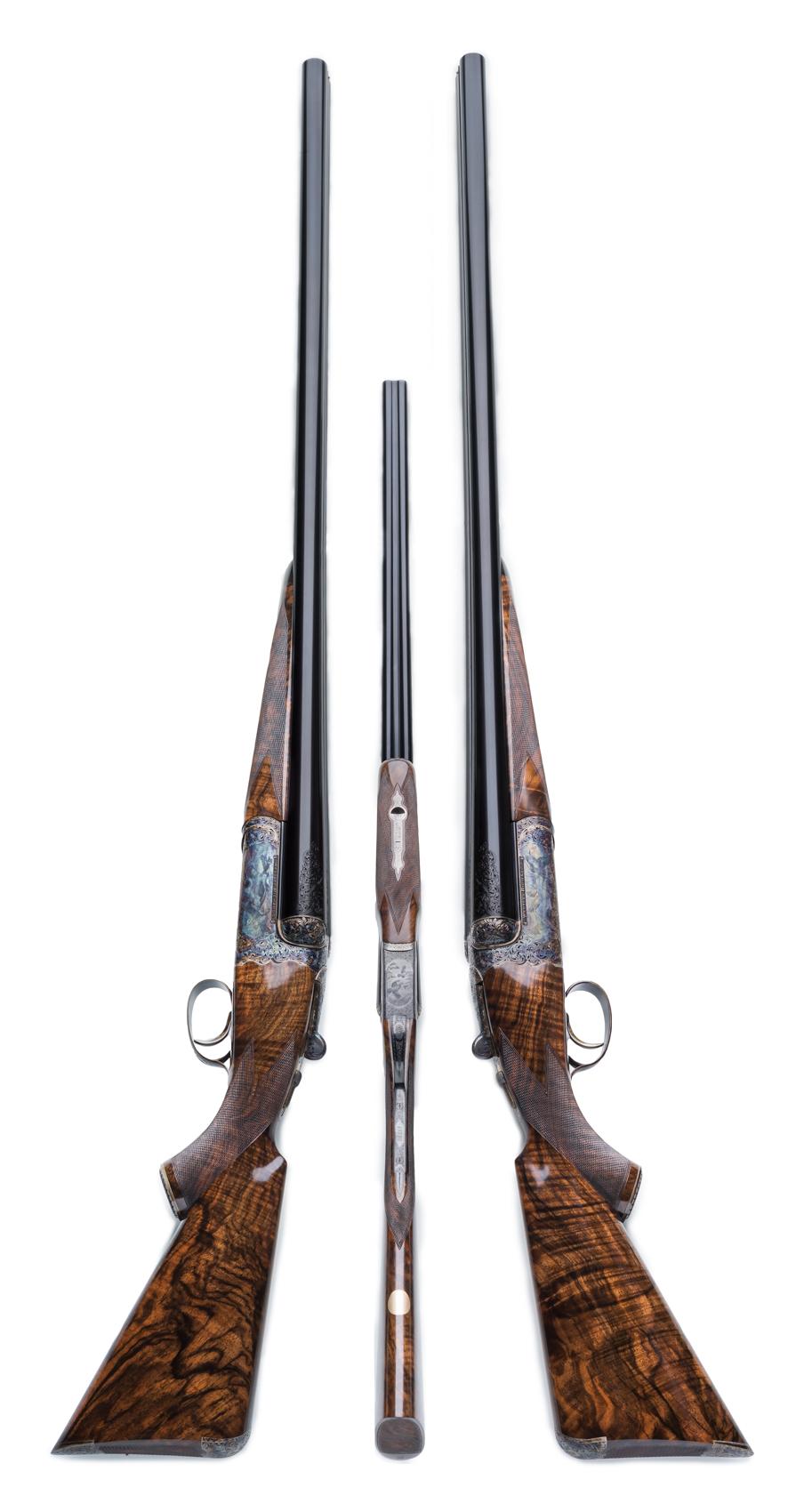 Westley Richards Pair of 4 bore shotguns.