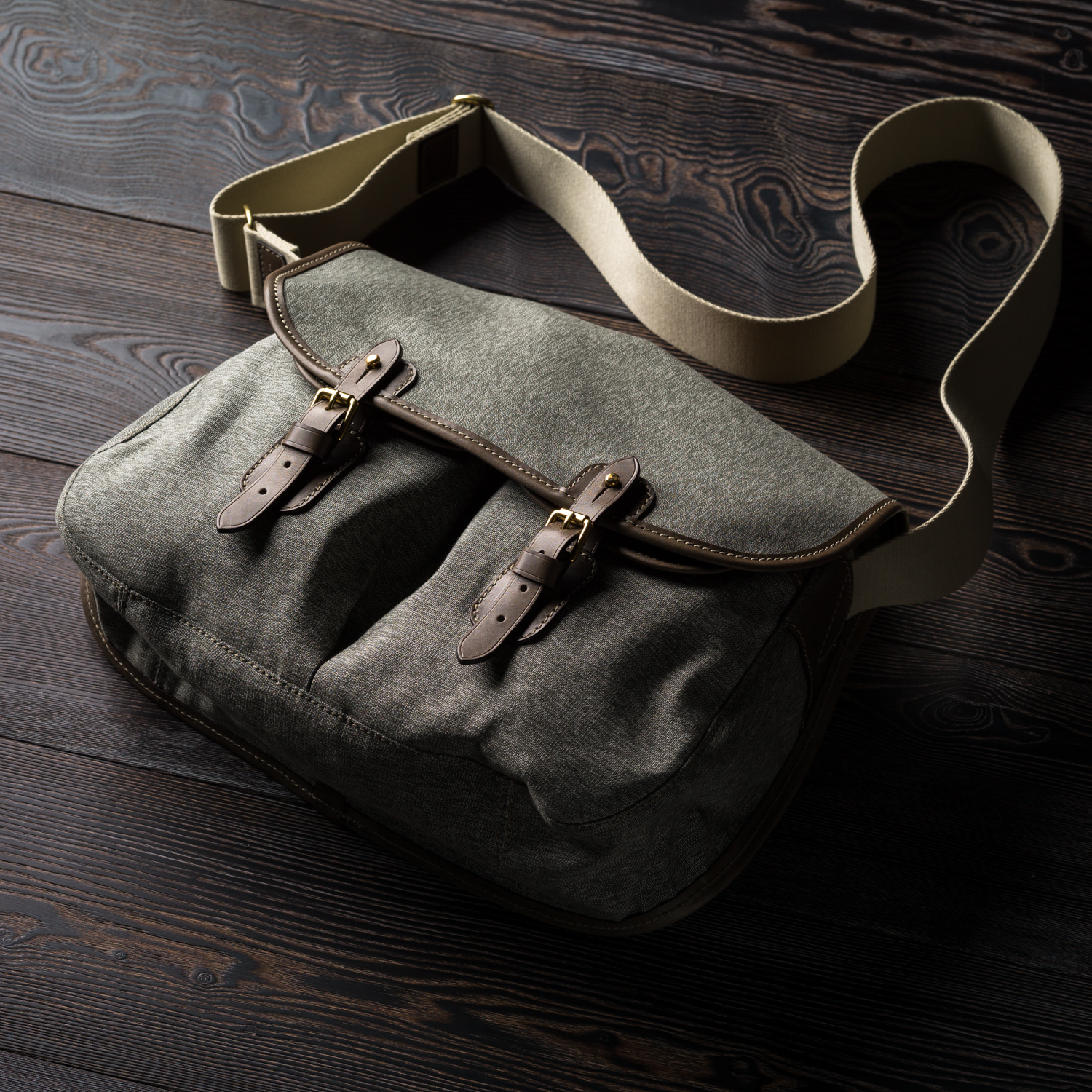 Westley Richards Bishop Bag Canvas & Leather Swiss Army Cammo
