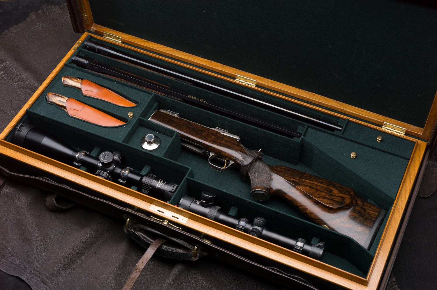 Schultz & Larsen 2 Barrel Cased