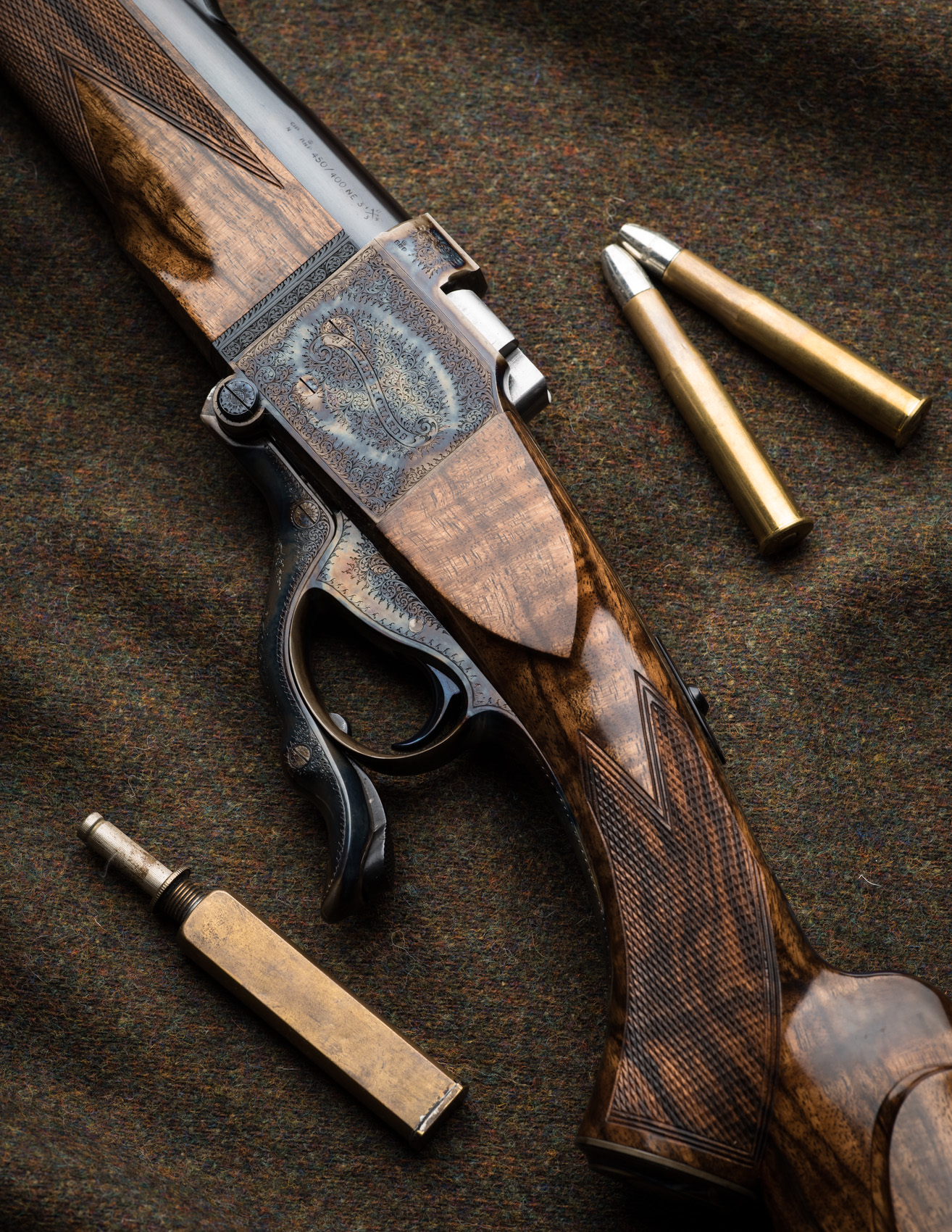 "450-400 3"" Westley Richards Farquharson  rifle"