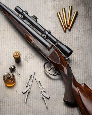 A Westley Richards .375 Hand Detachable Lock Double Rifle.