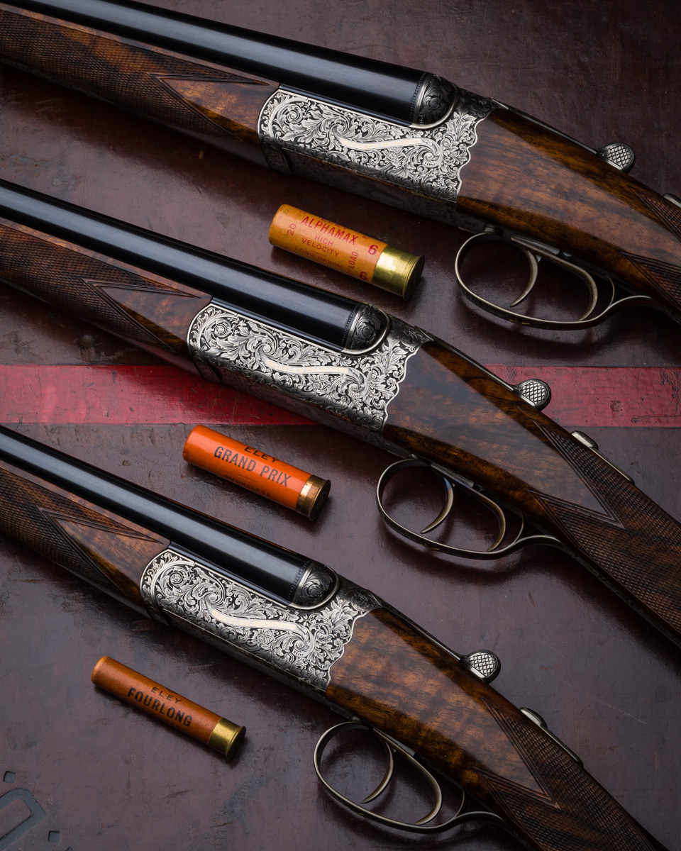 Set of 3 Westley Richards drop locks in 20g, 28g and .410.