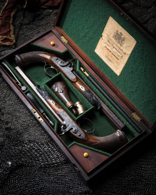 A Pair of Westley Richards Percussion Pistols.