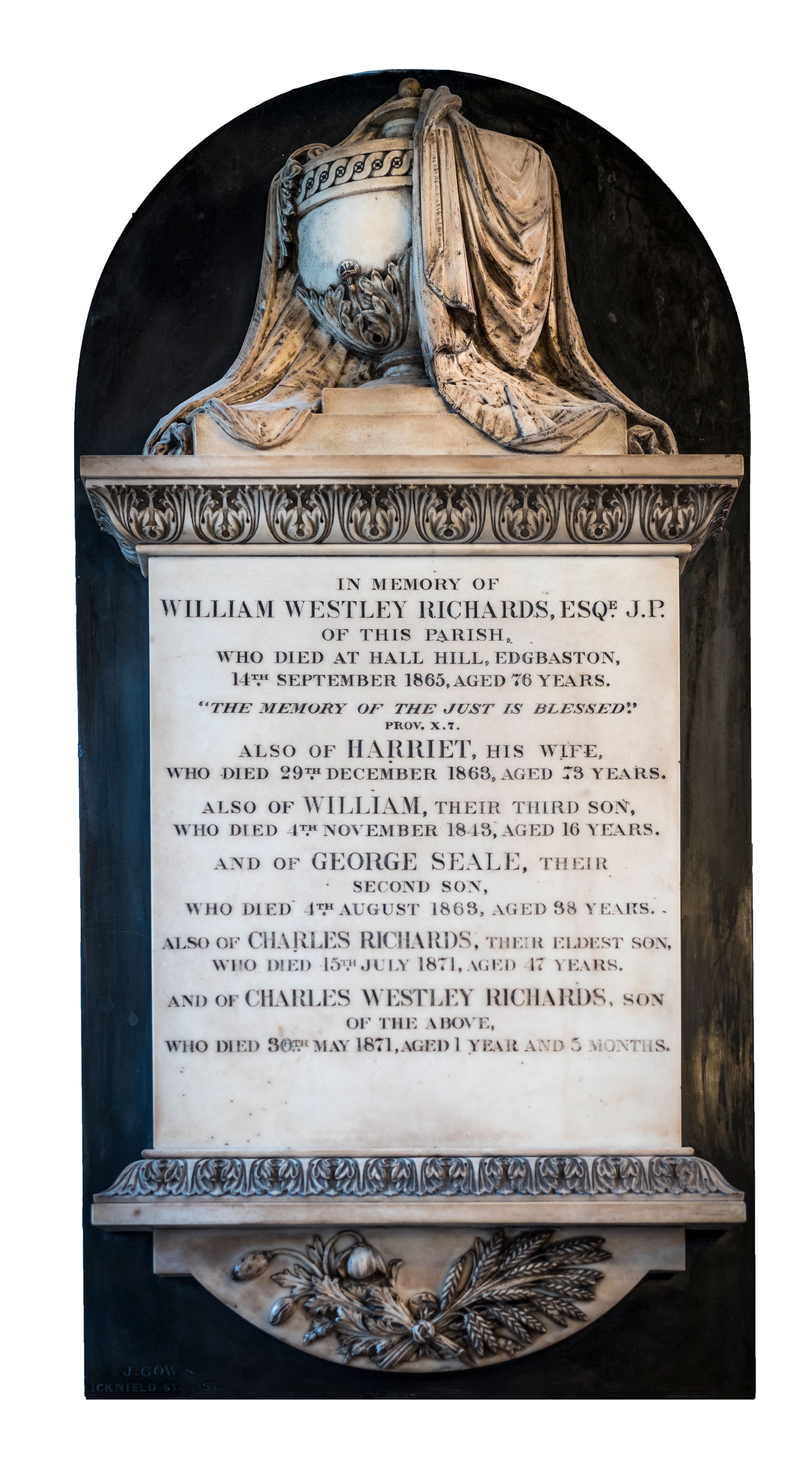 William Westley Richards family Memorial at Birmingham Cathedral