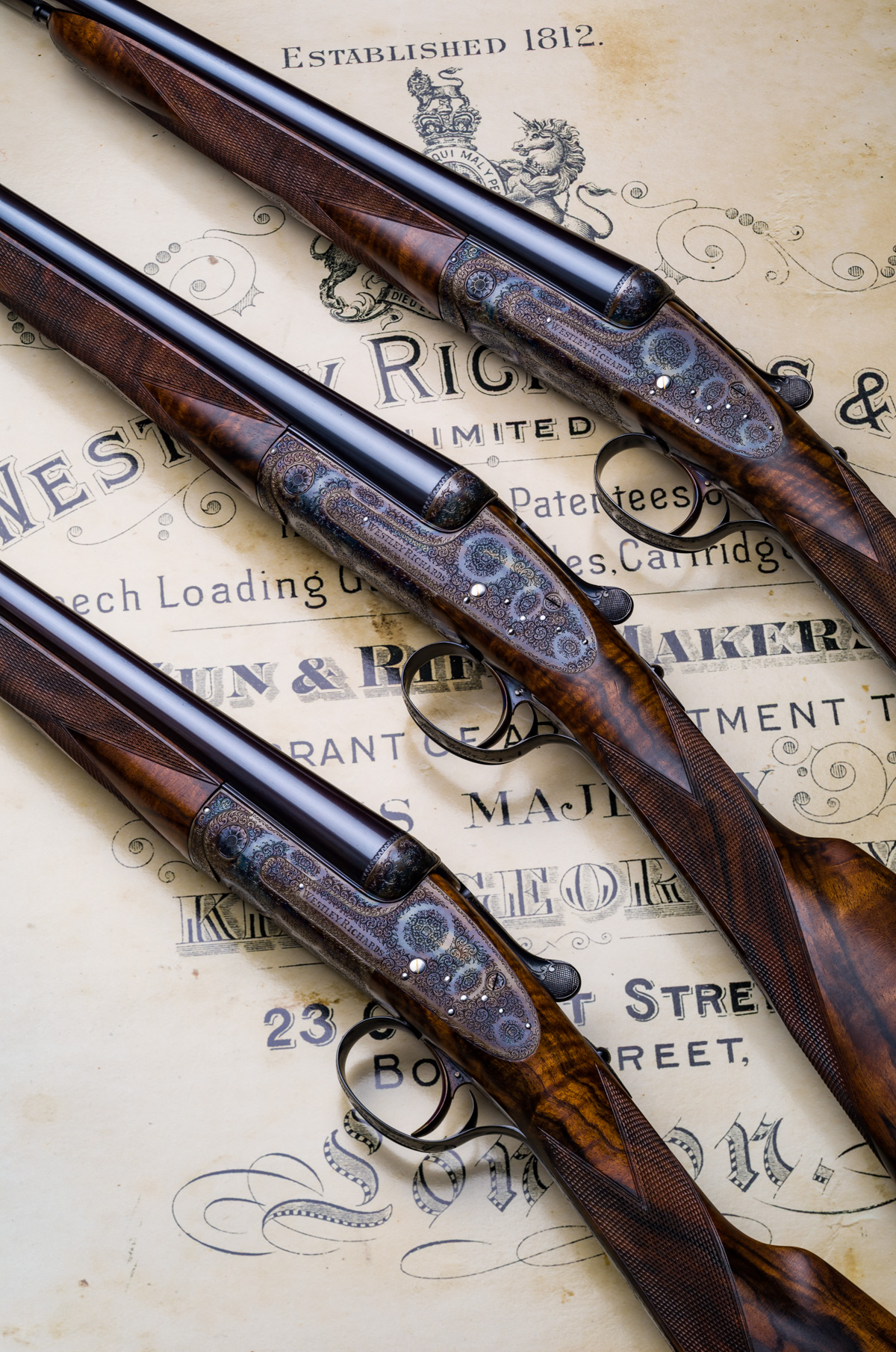 Trio of Westley Richards Sidelock Guns