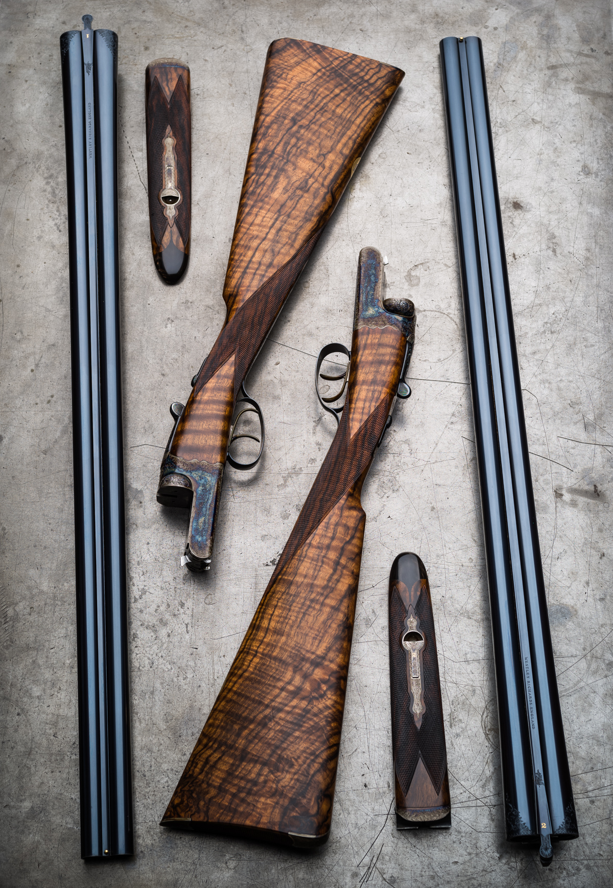 A Pair of Traditional Westley Richards 12g Droplocks. 2 Guns that led to 10.