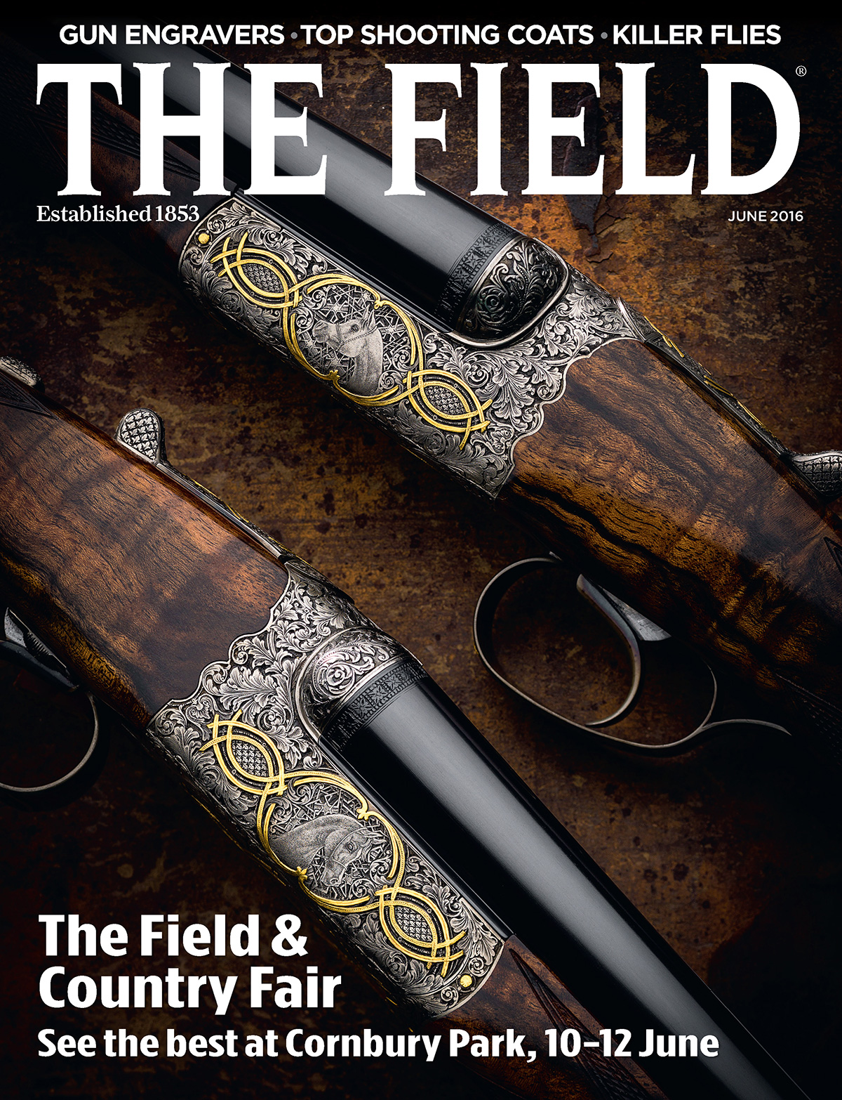 The Field and Fieldsports Magazines - June 2016 -  2 Front Covers for Westley Richards.