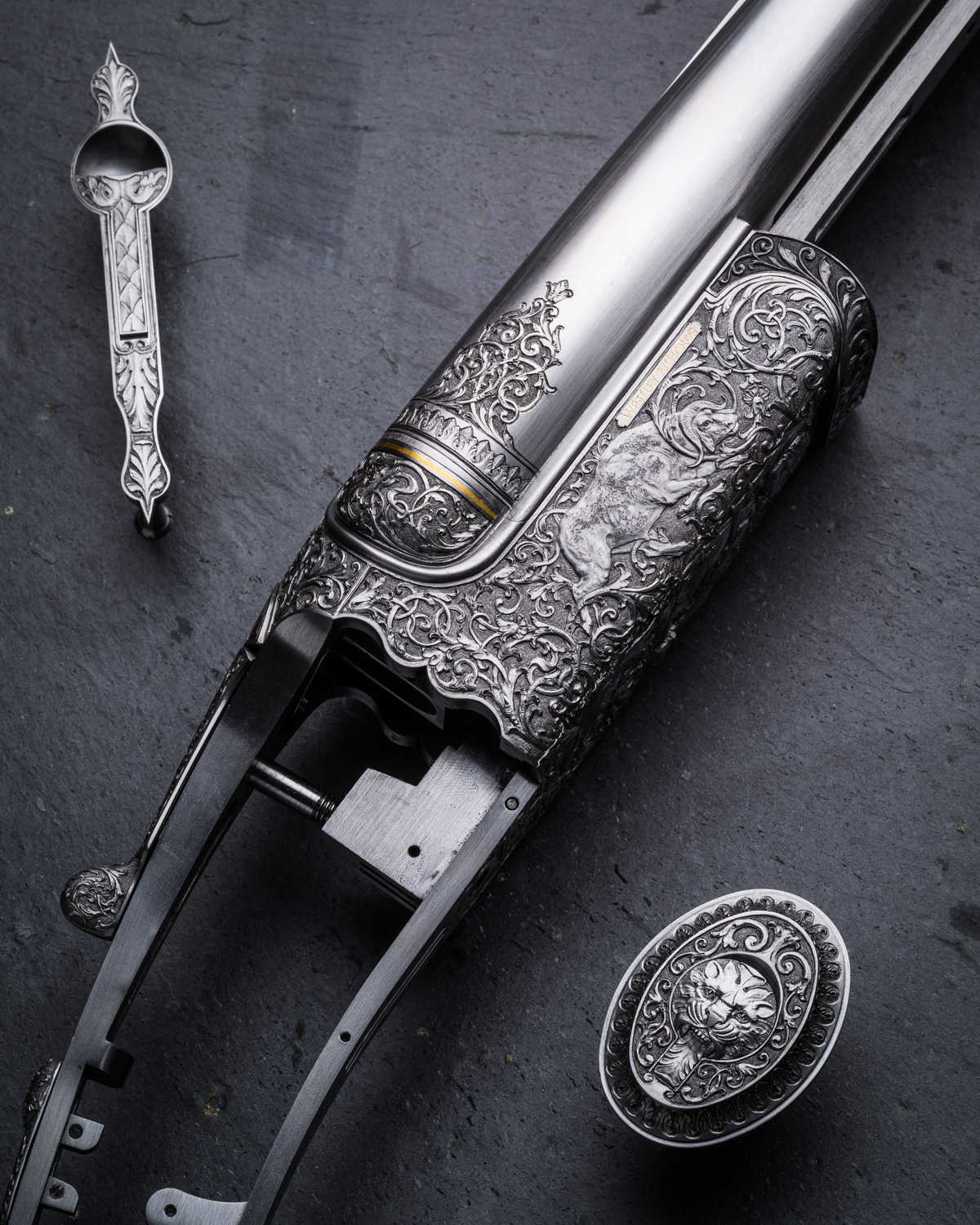 Westley Richards .500 Droplock Eng. Lantuch