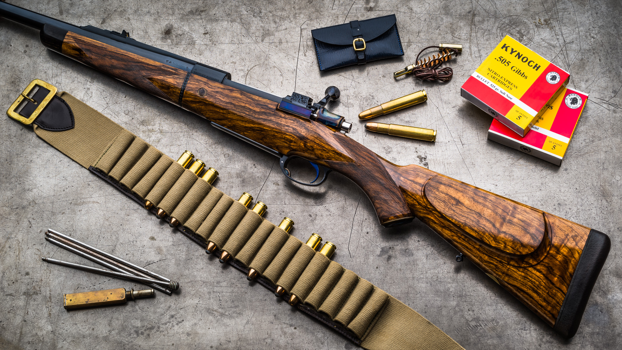 A New Westley Richards .505 Take Down Rifle.