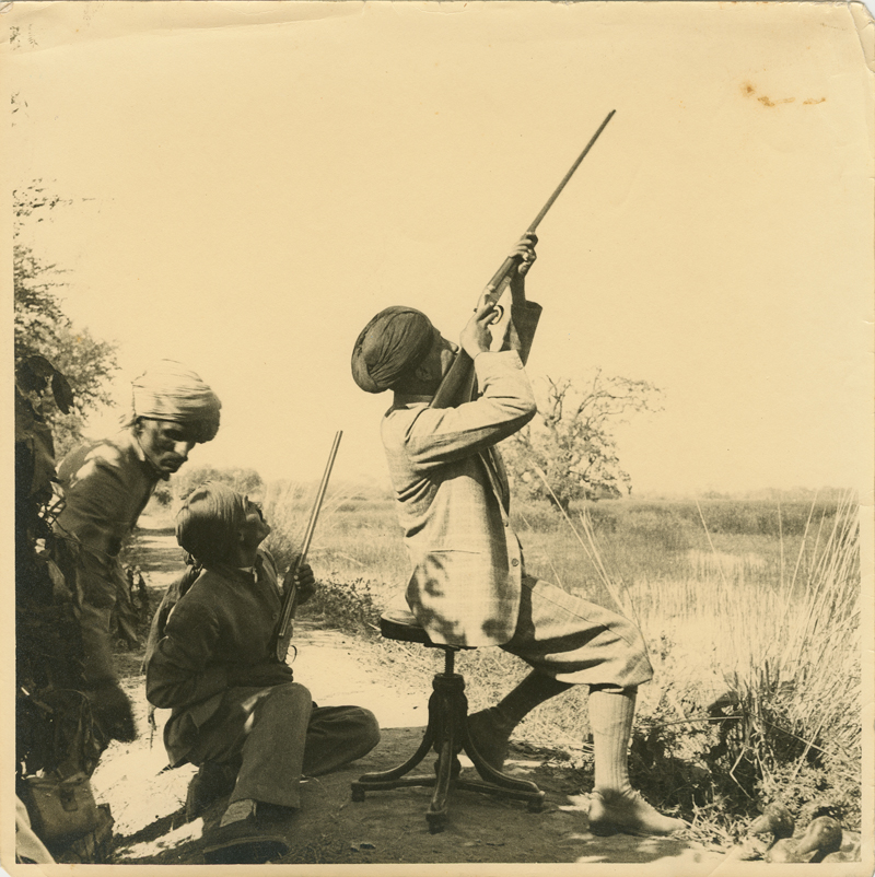 Maharaja of Dholpur Shooting a Pair of Westley Richards Guns.