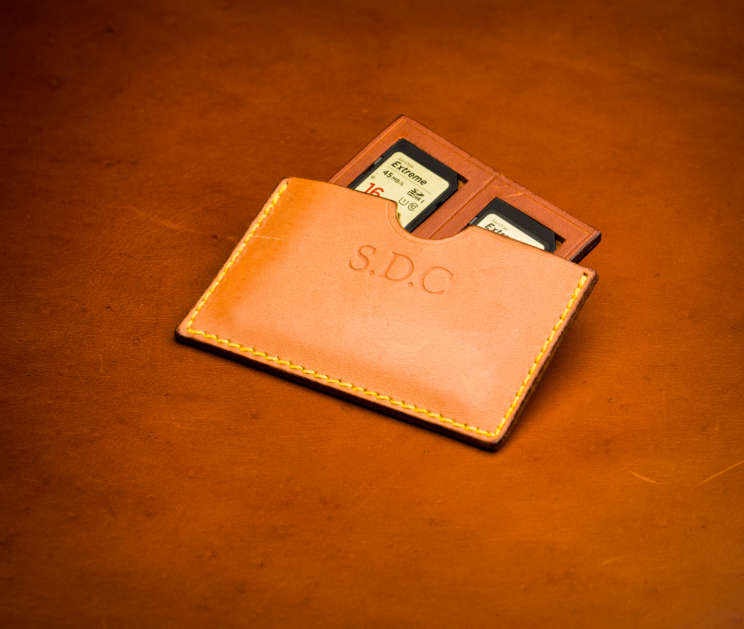 SD Card Holder in Leather