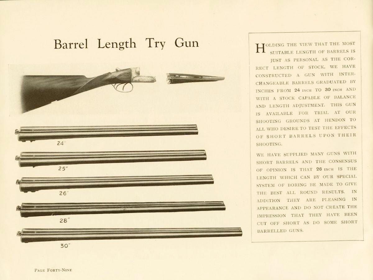 WR Barrel Try Length Gun