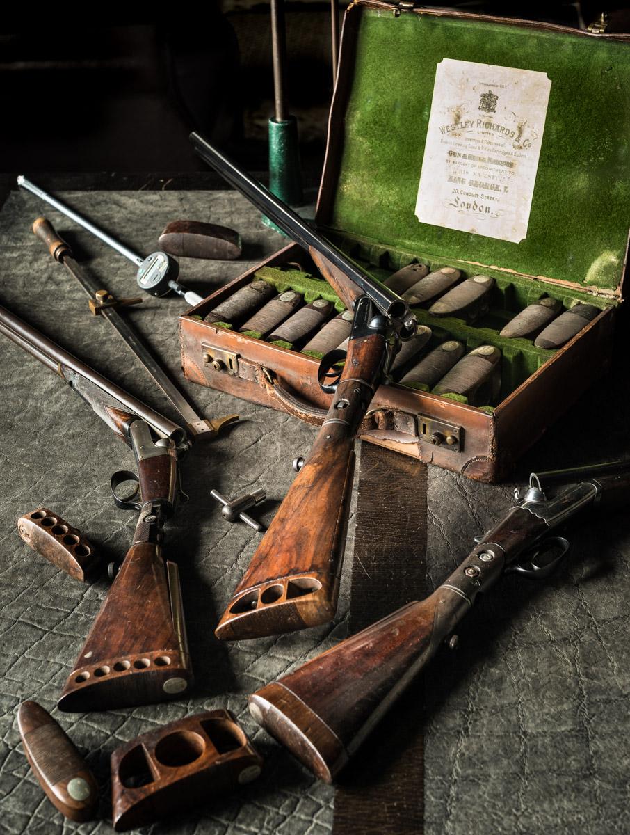 Westley Richards Try Guns at Factory.