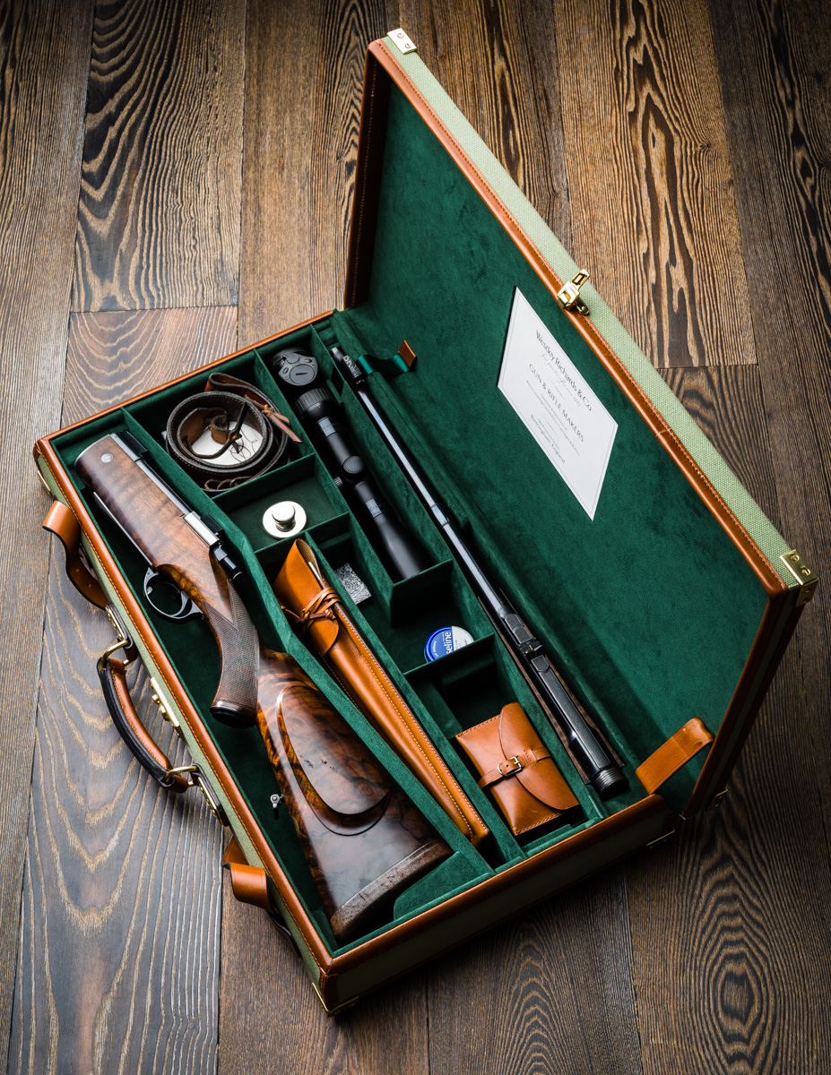 Cased Westley Richards .375 TD