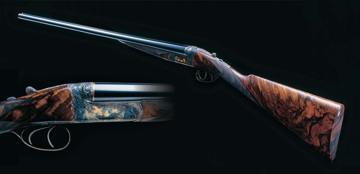A Selection of Engraving from Recent and Past Westley Richards Small Bore Game Guns.