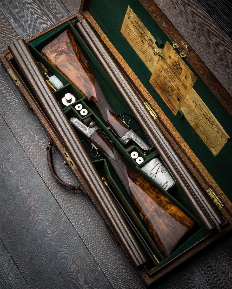 The Pair of Damascus Barrelled 12g Westley Richards. Restoration Work At the Factory Explained.