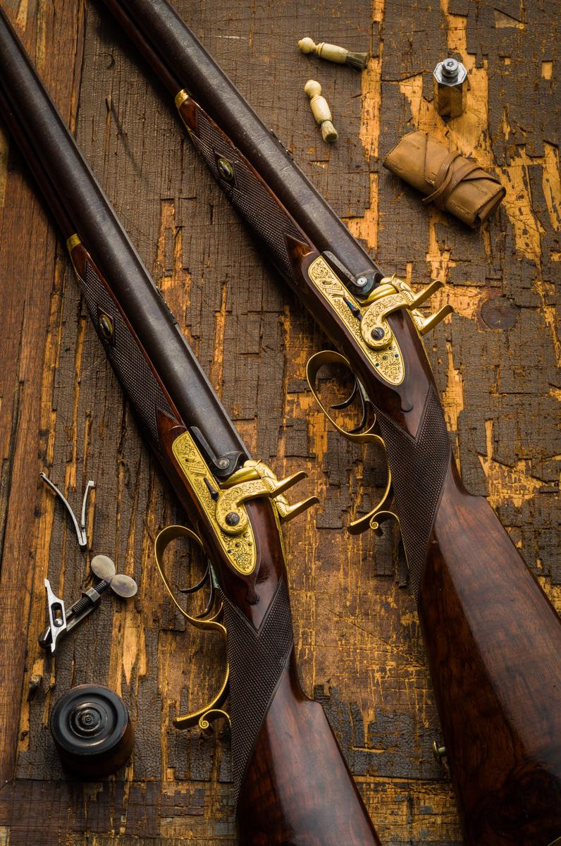 Pair Charles Lancaster 7g Rifles