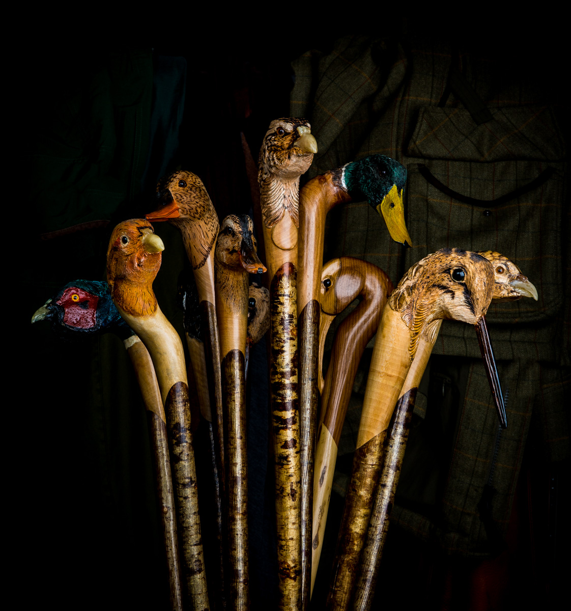 Hand Carved Thumb Sticks - Your Companion in the Field.