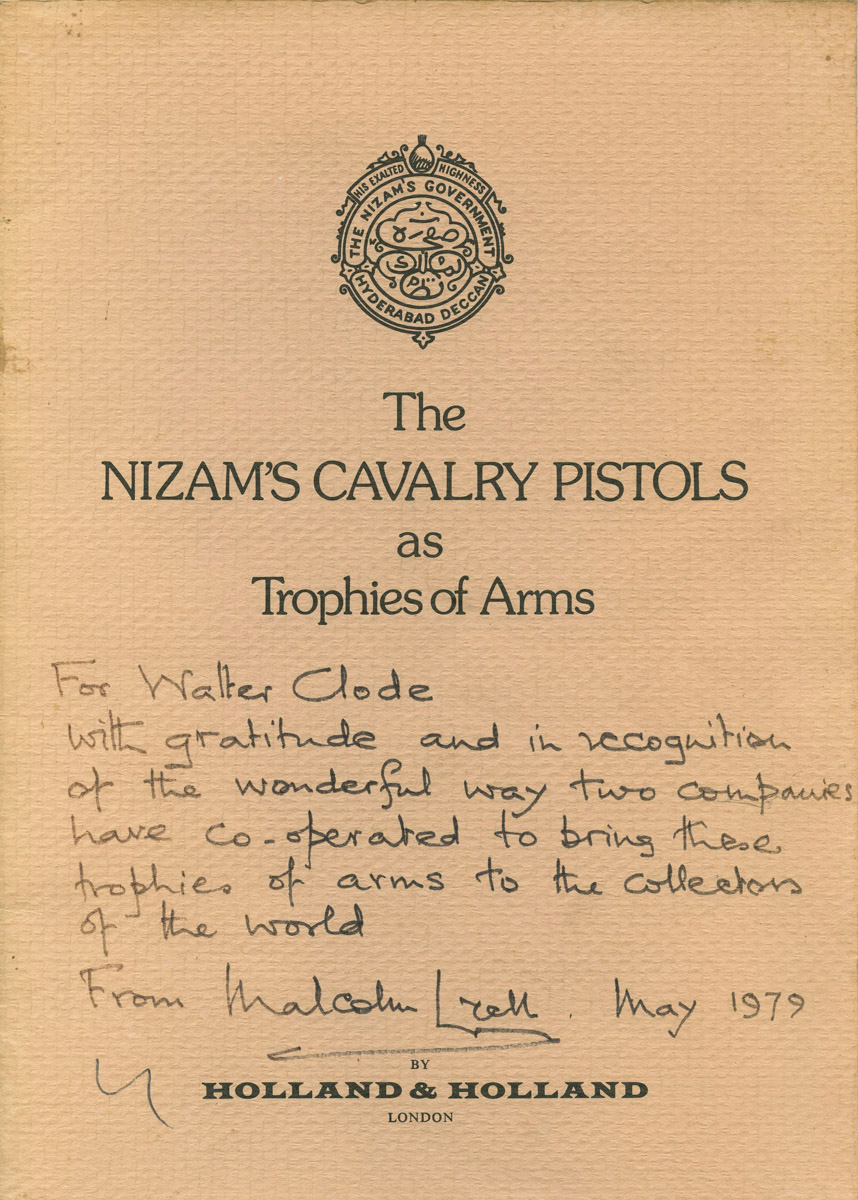 The Nizam's Cavalry Pistols as Trophies of Arms.