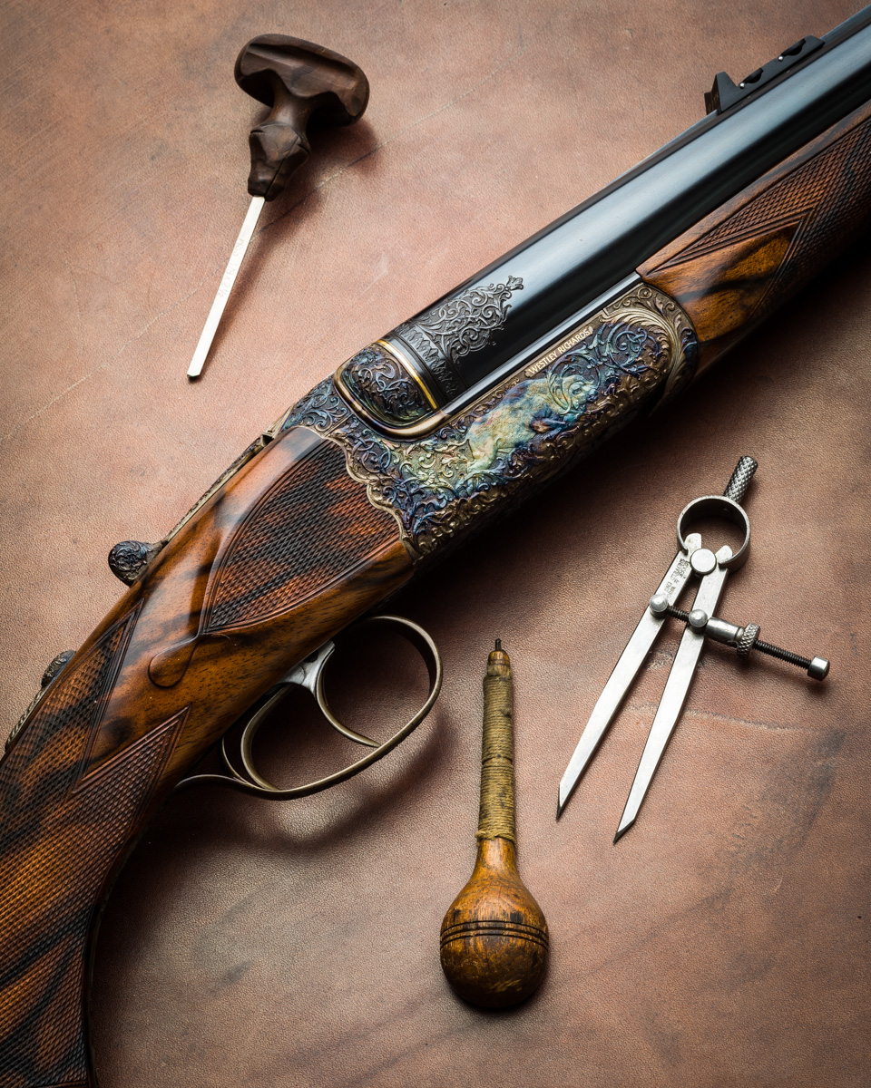 Westley Richards 470 Relief Carved by Paul Lantuch
