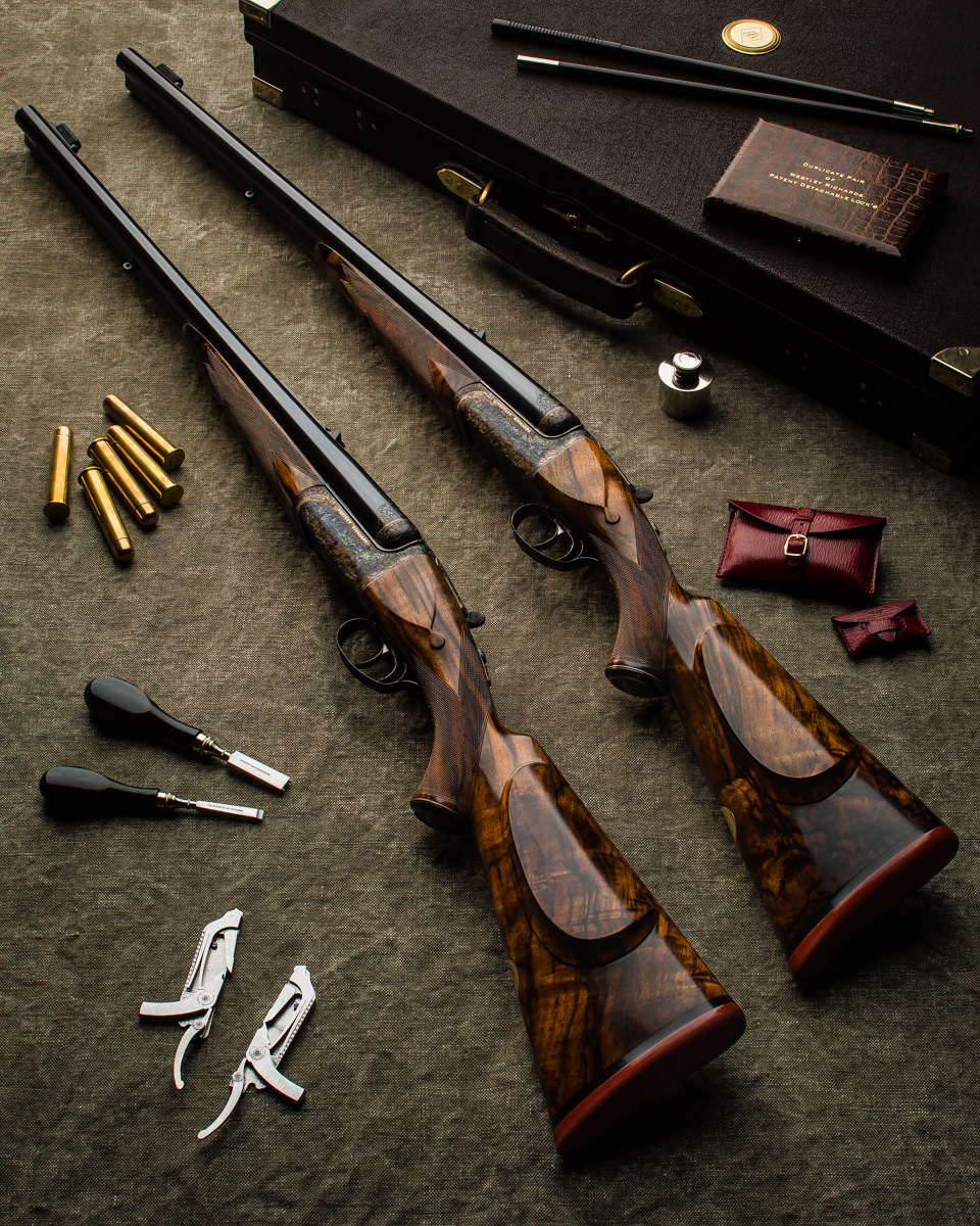 A New Pair Of Westley Richards .600 Deluxe Droplock Double Rifles