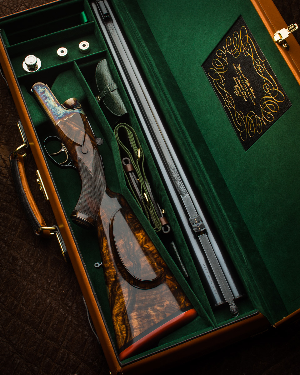 A New Westley Richards 'Gold Name' .577 Lightweight, 650gr Bullet, Droplock Rifle