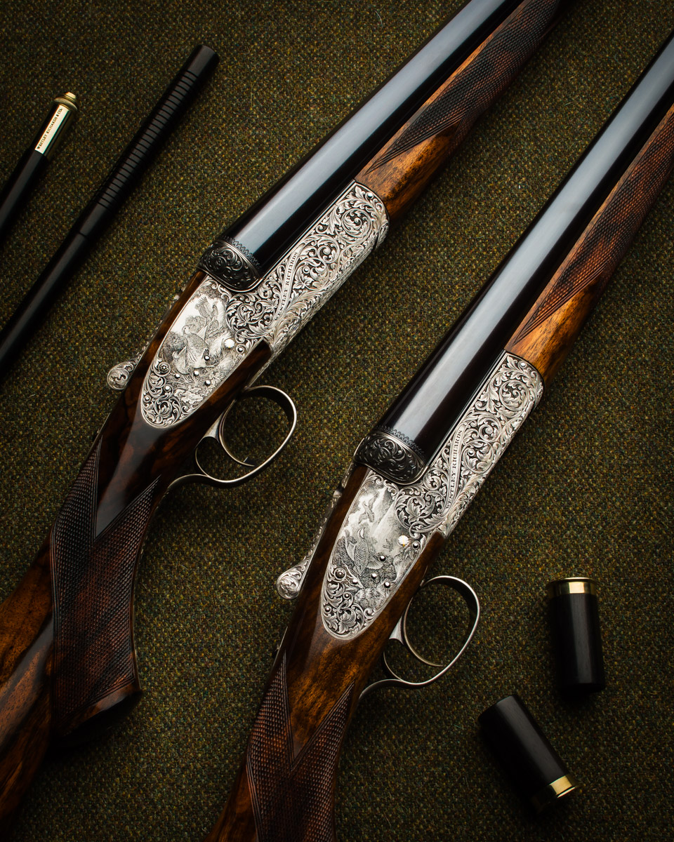 WR 12g Round Action Sidelock Pair 1