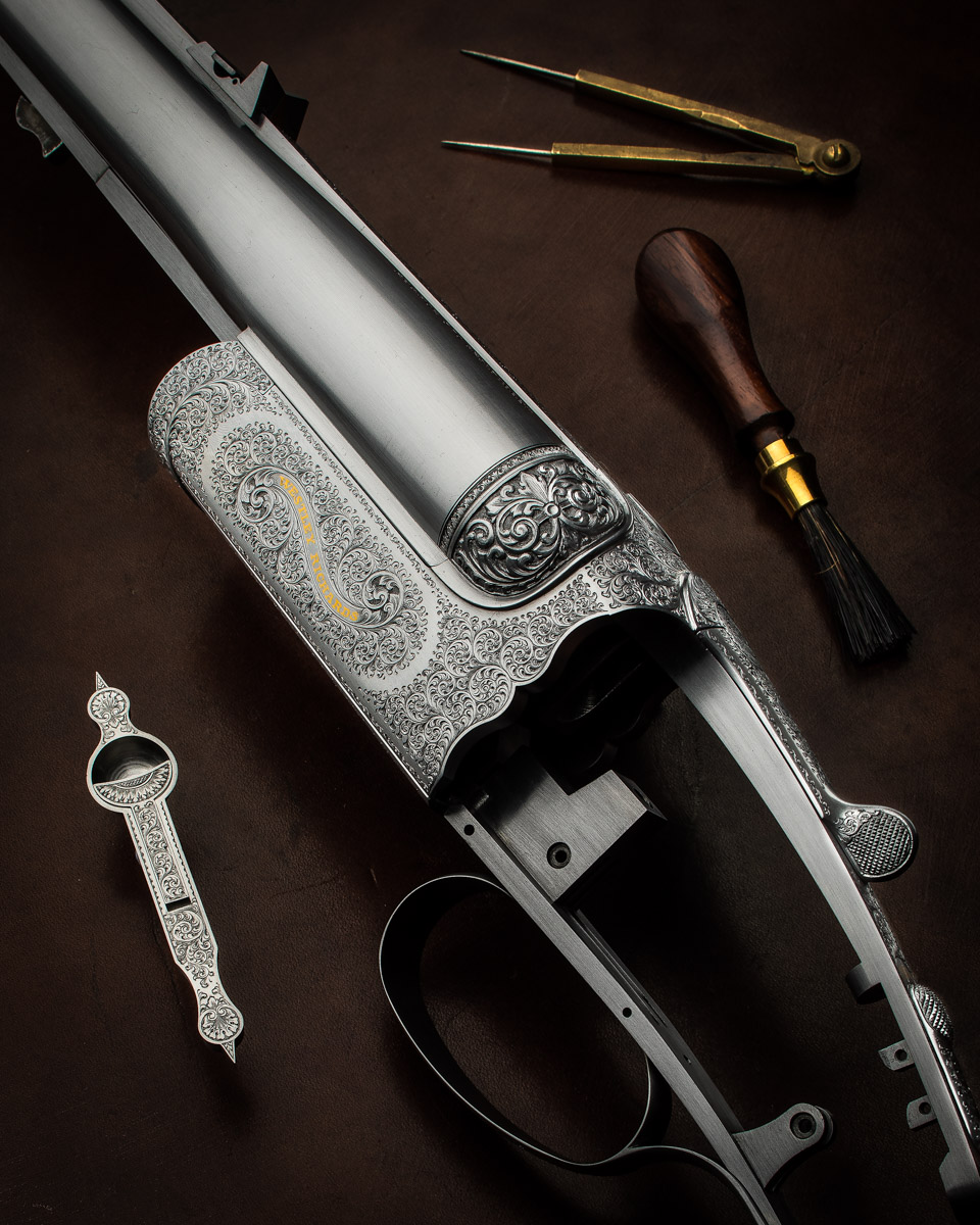 Westley Richards .500 Double Rifle Back From Engraving