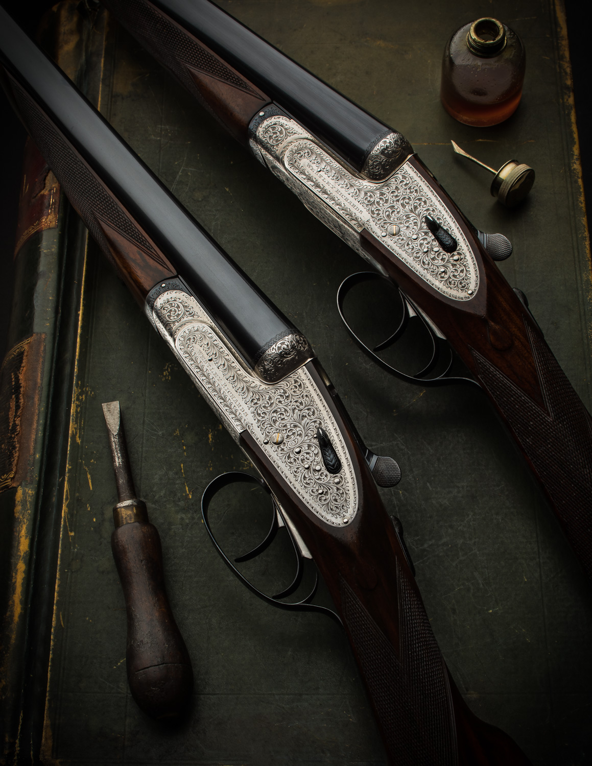 Pair of Westley Richards 12g 'Central Vision' Sidelock Ejectors