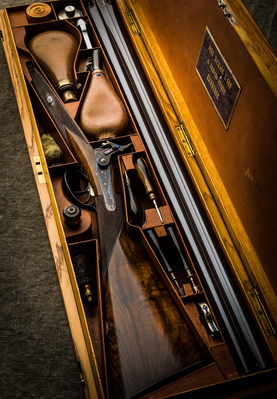 Magnificent John Dickson & Son 8 Bore Percussion Gun