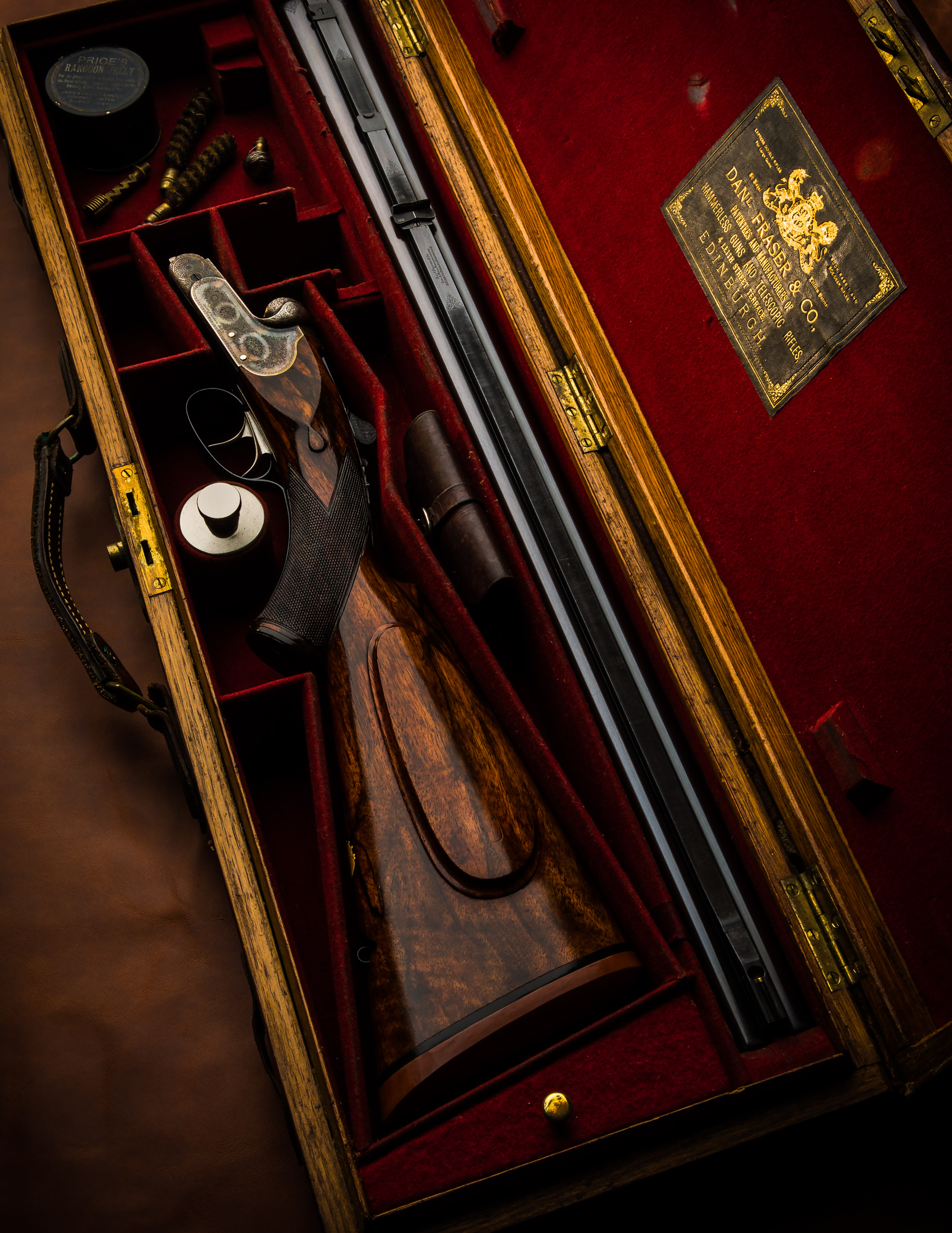 Wonderful Daniel Fraser & Co. .475 Boxlock Ejector Double Rifle