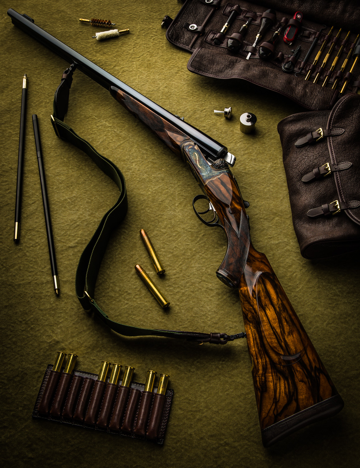 "New Westley Richards 'Heavy' .500 3"" Droplock Double Rifle"
