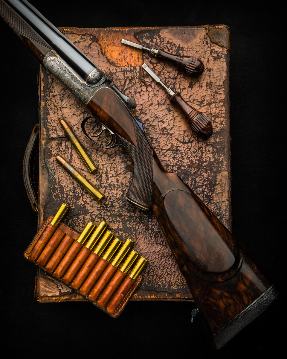 "David McKay Brown .470 3 ¼"" Nitro Express Round Action Double Rifle"