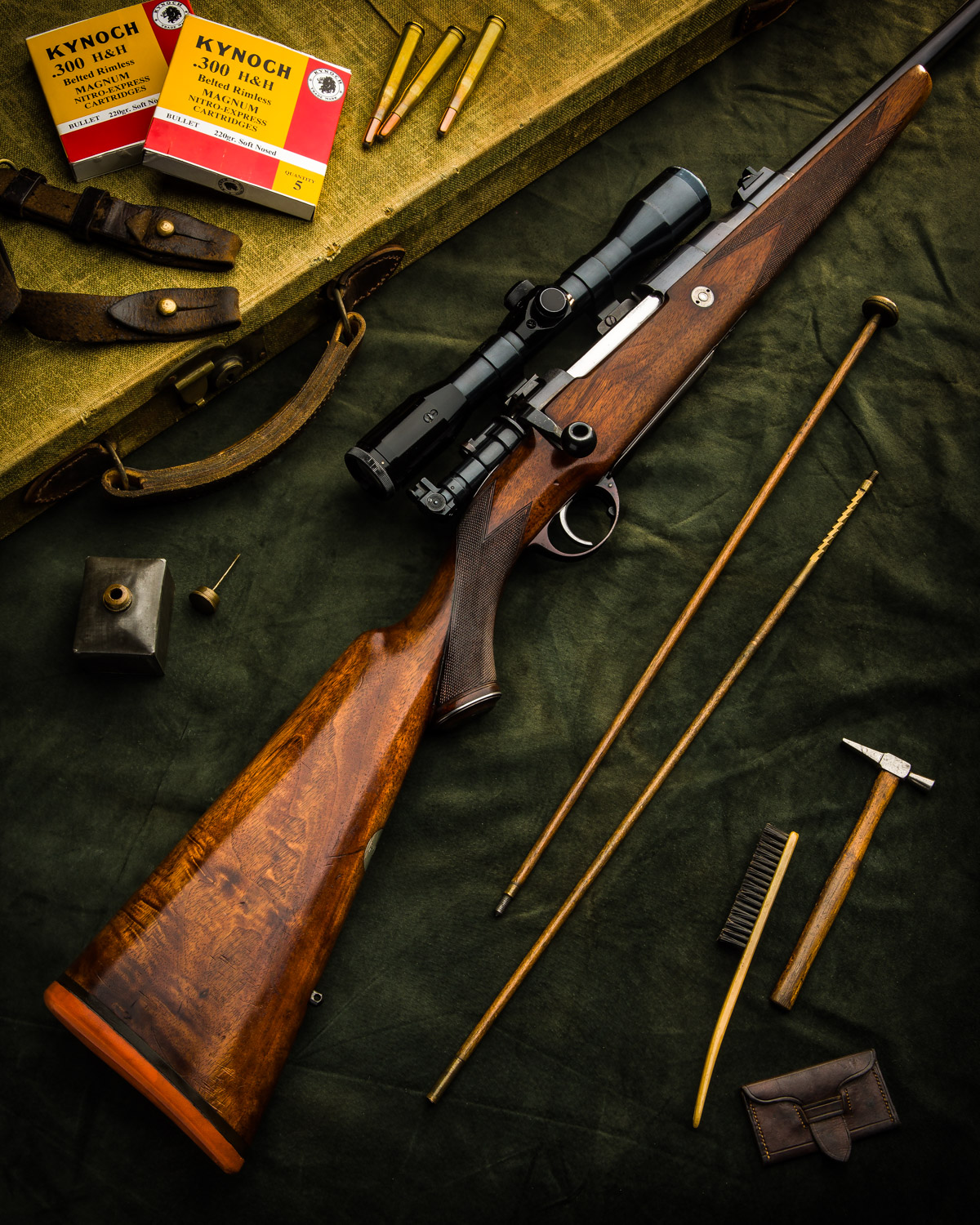 A Vintage Holland & Holland .30 Super Magazine Rifle