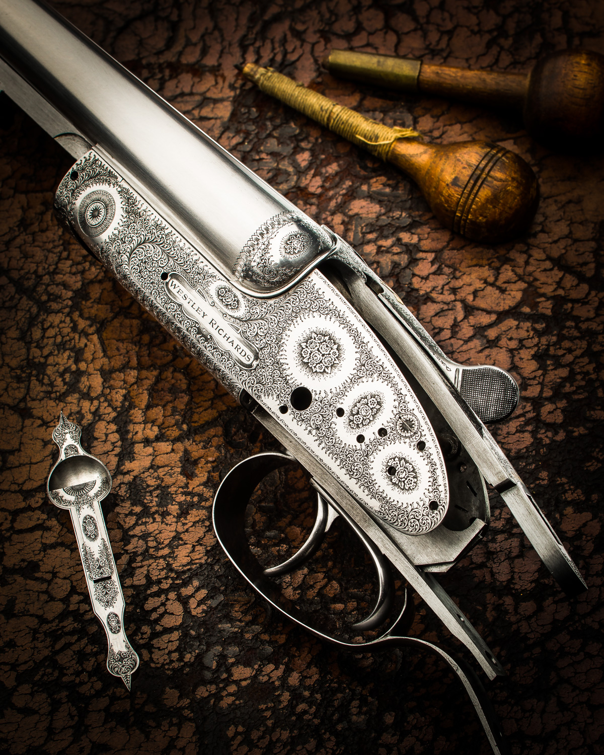 A Beautiful 28 Bore Westley Richards Rose & Scroll Round Body Shotgun