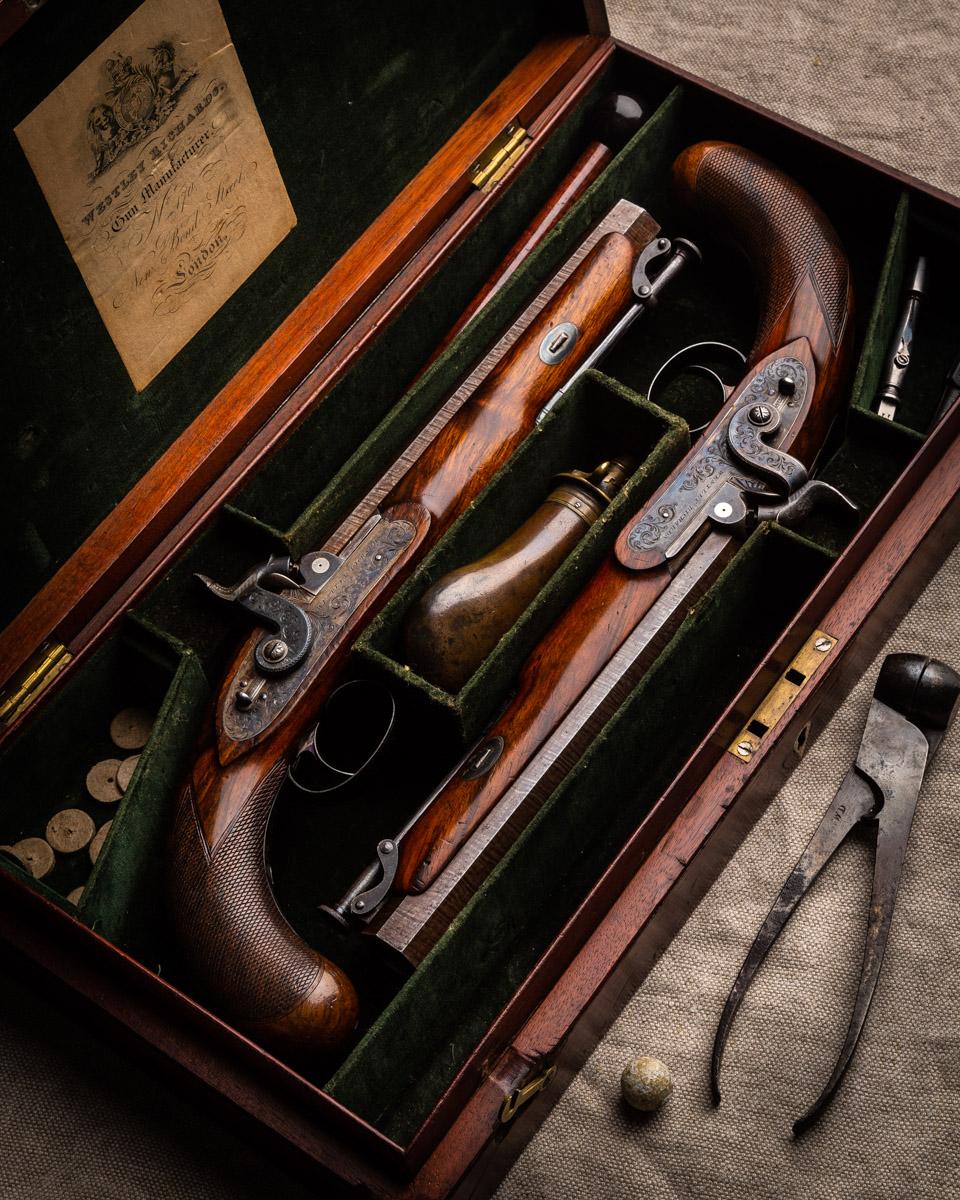 Pair of Westley Richards 16g Holster Pistols