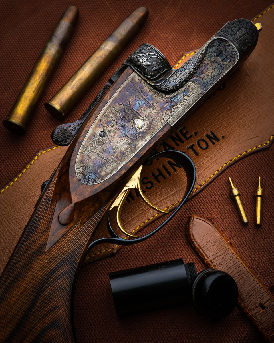 Holland & Holland .470 NE Modéle de Luxe Sidelock Ejector Double Barrel Rifle.