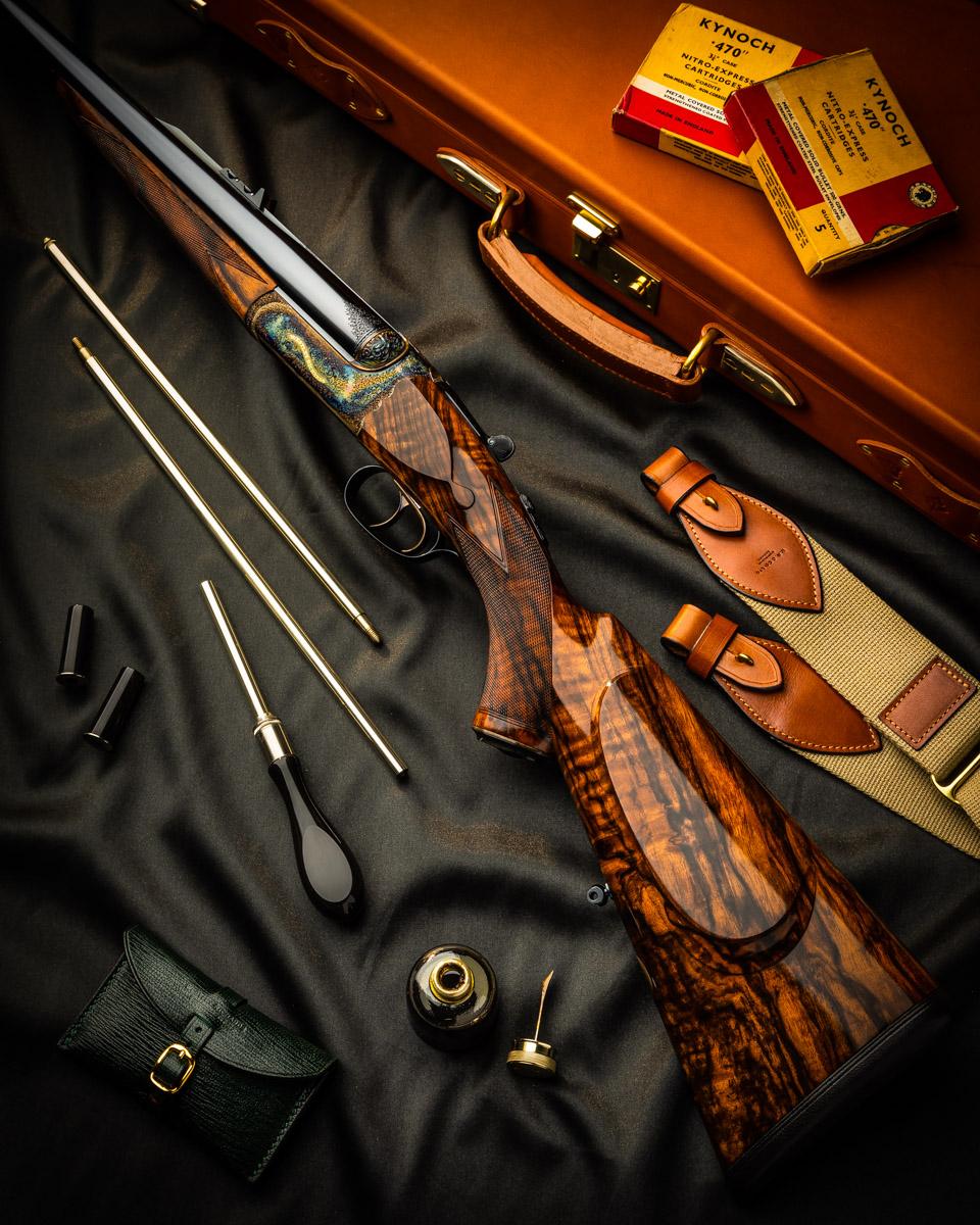 New Westley Richards .470 Droplock Double Rifle
