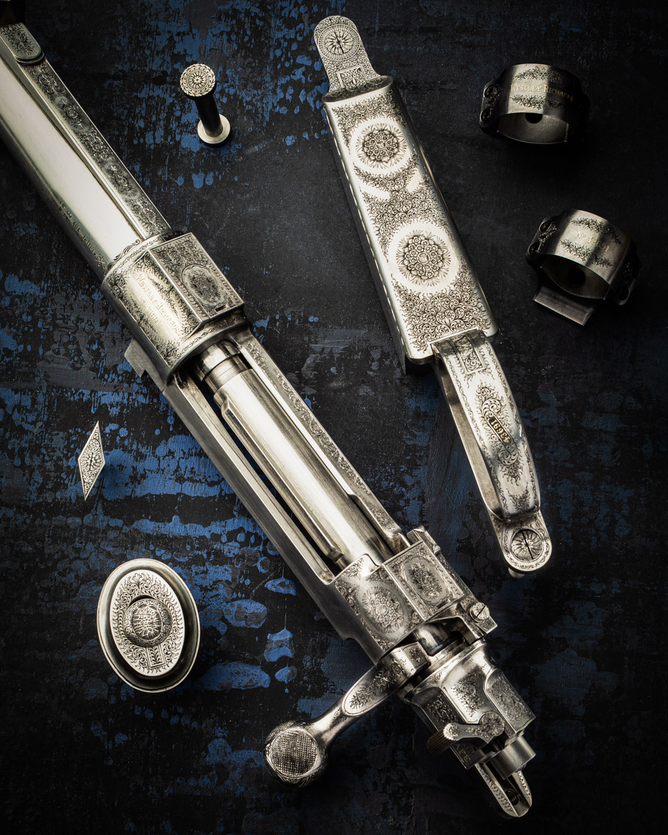 A New Westley Richards 'Rose & Scroll' Engraved Magazine Rifle