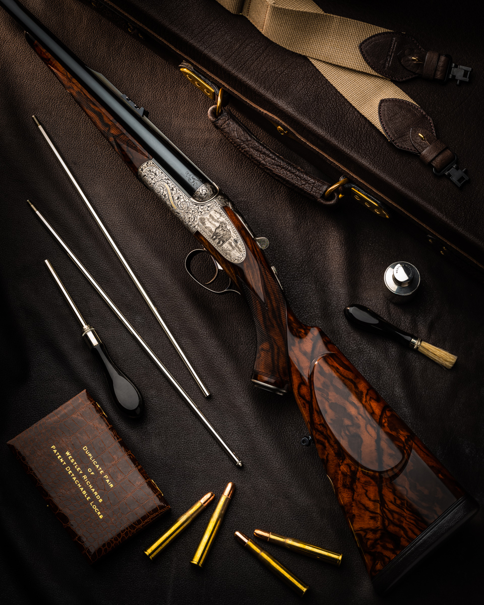 "A Westley Richards .450/.400 3"" 'Modéle de Luxe' Side Plated Double Rifle"