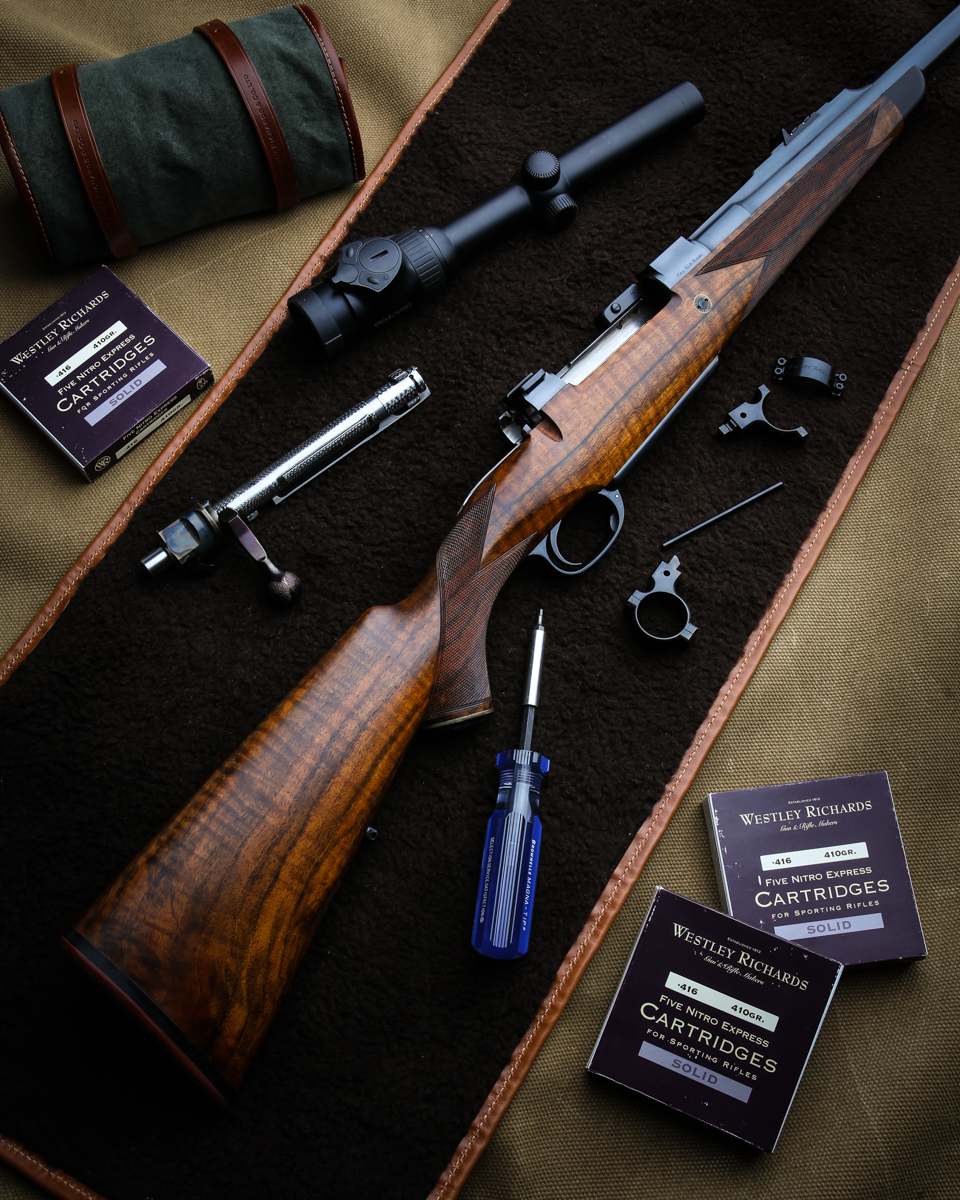 Two Modern Westley Richards Rifles at the U.S. Agency