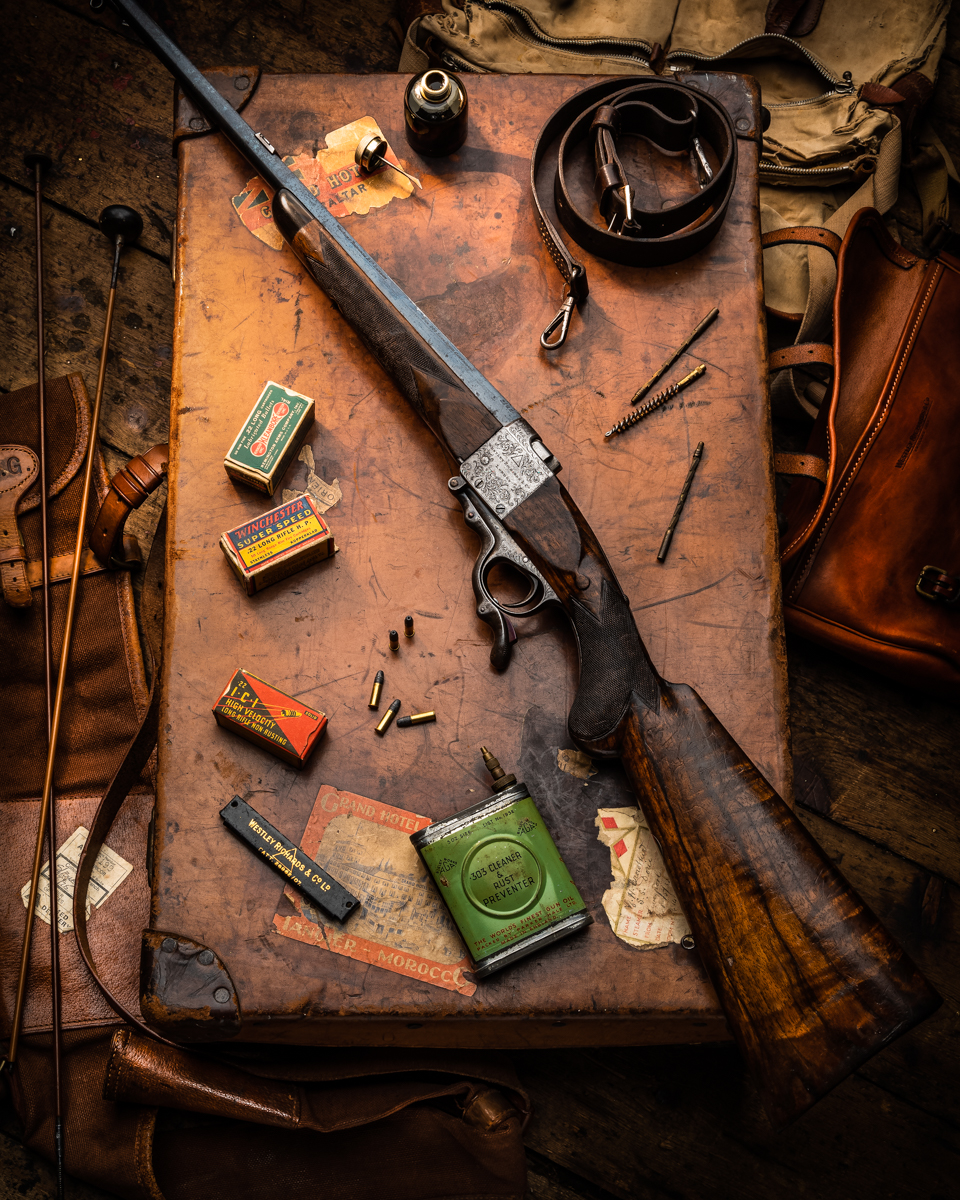 A Very Rare Westley Richards Model 1897 Under-Lever Rifle In .22 Rimfire