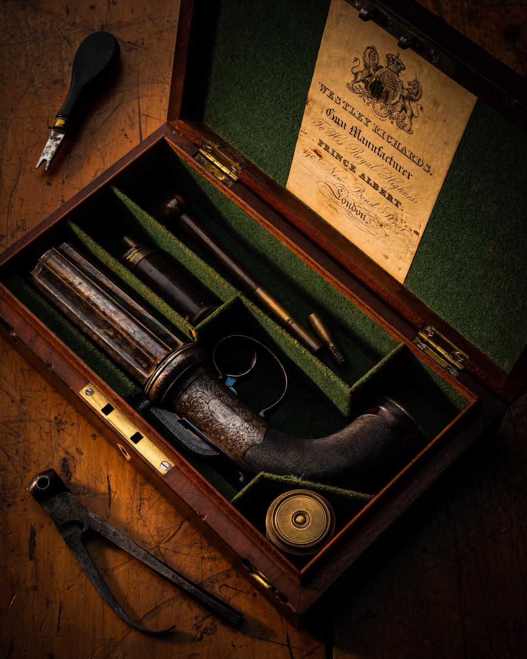 Vintage Westley Richards 1856 'New Patent Revolving Pistol'