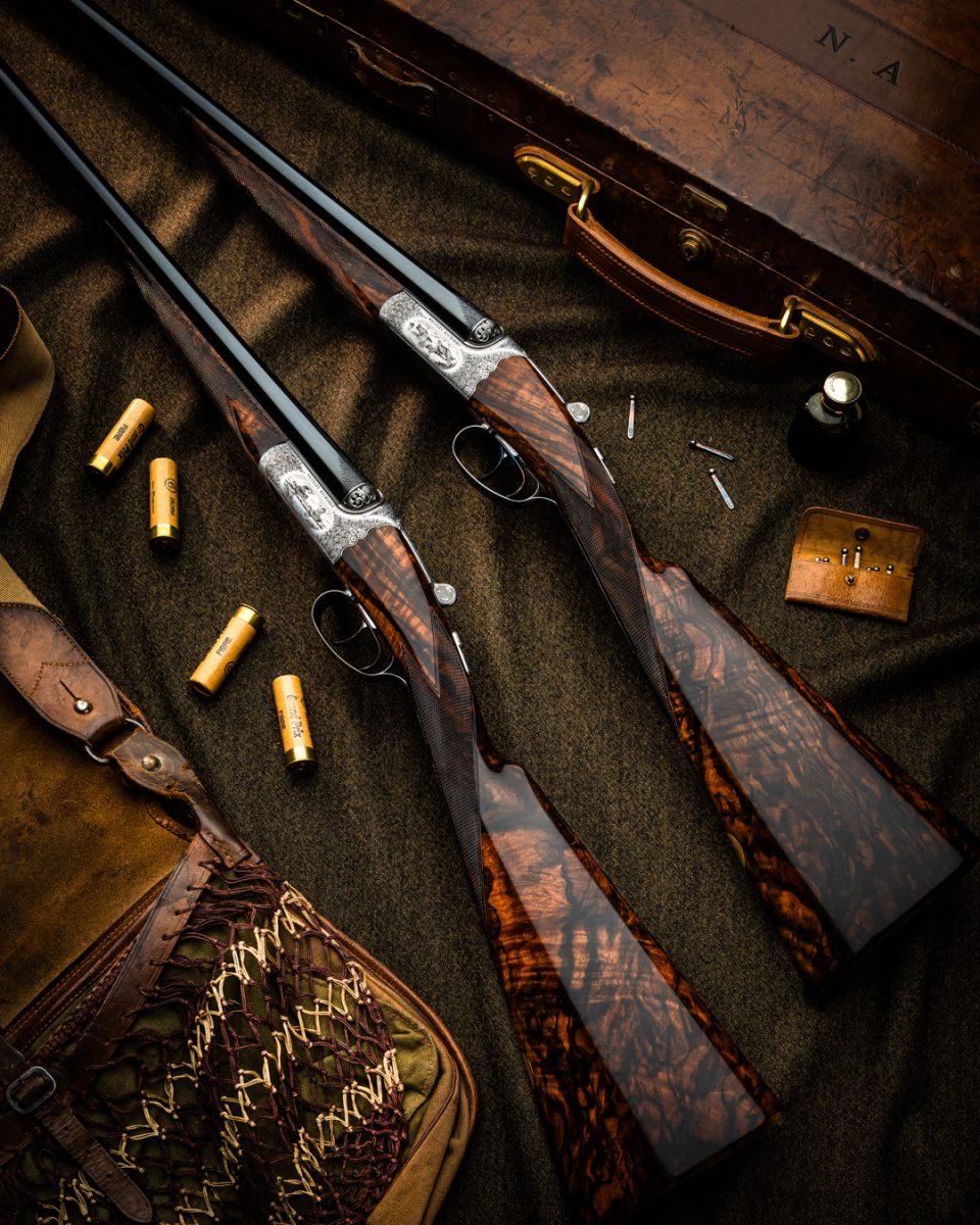 Beautiful New Pair Westley Richards 'English' Game Guns