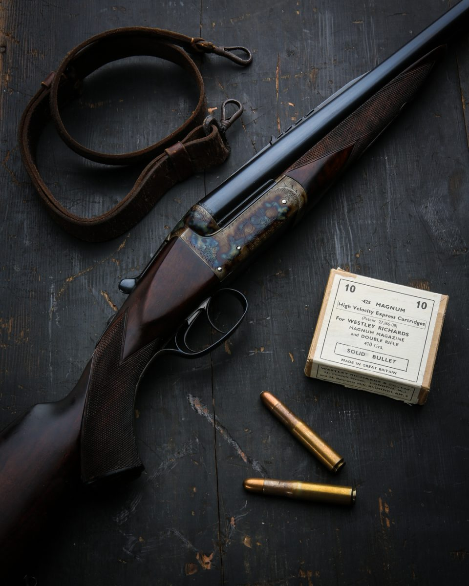 A Very Rare Westley Richards Hammerless Double Rifle in .425 Magnum
