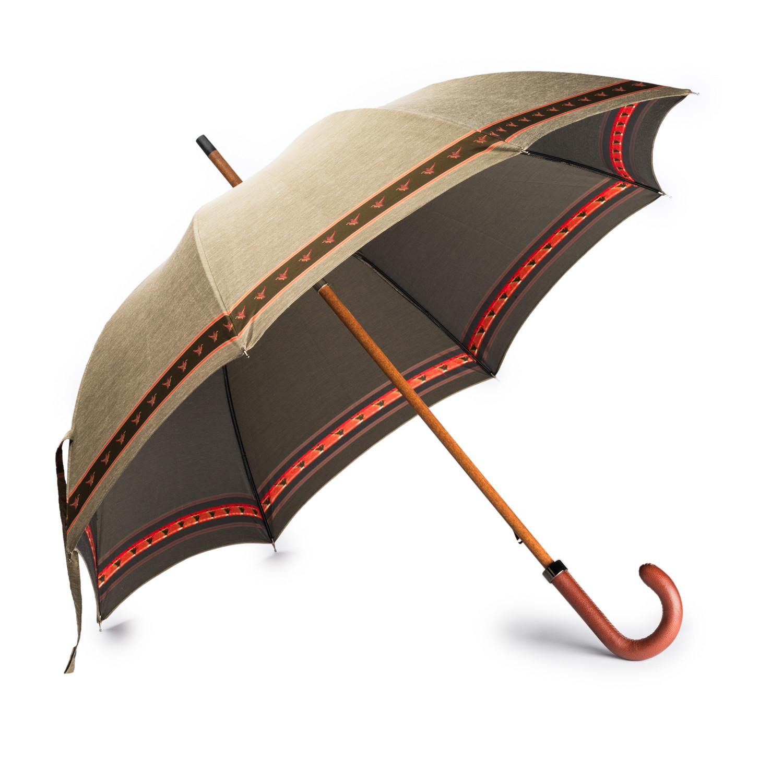 w r u0026 co mallard print umbrella with leather handle w r