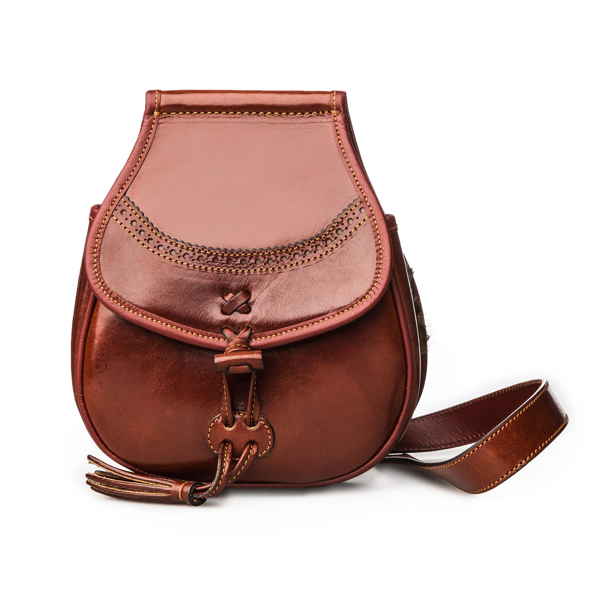 9d0f748b23 T.ba Leather   Fur Hand Warming Bag - Bronze