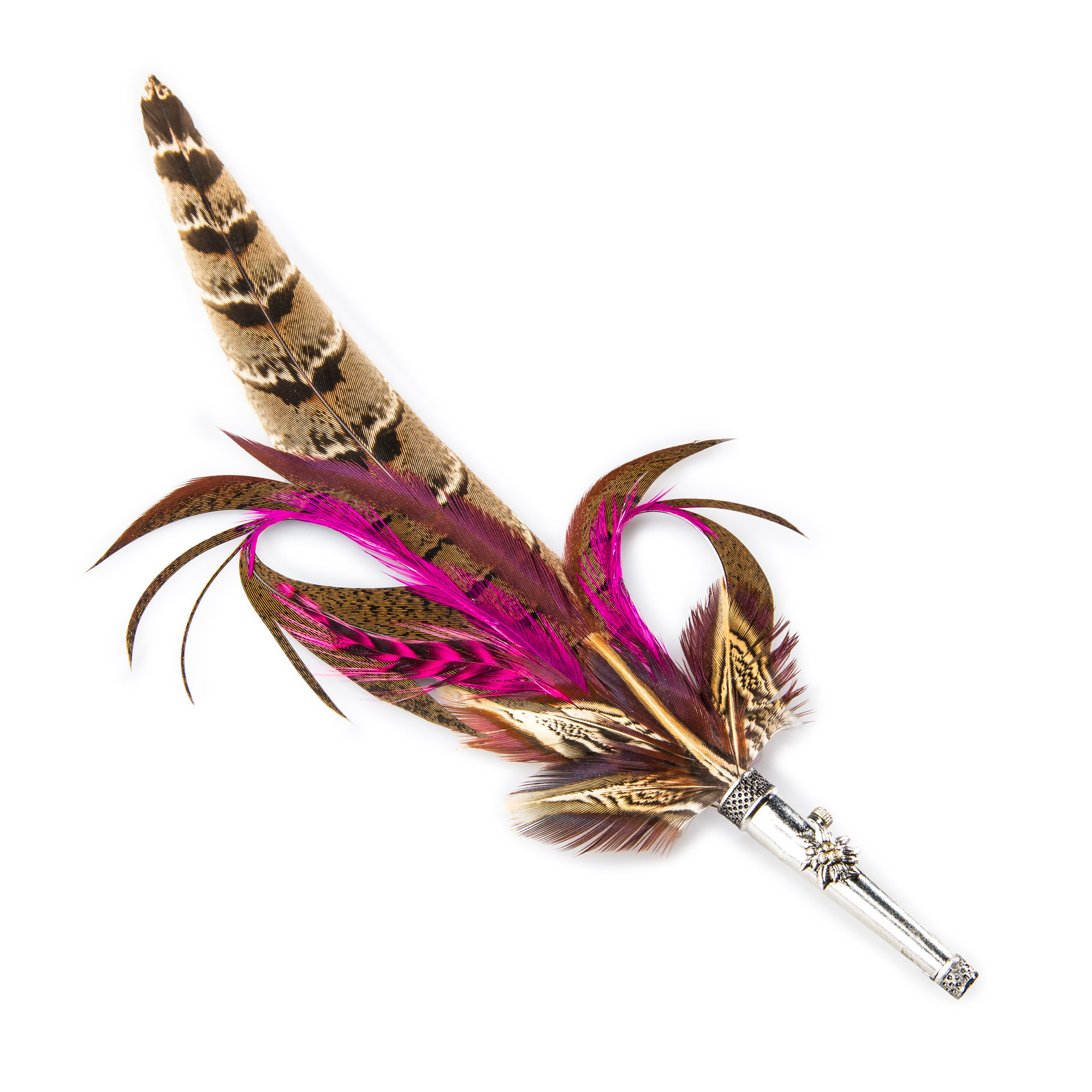 2d461764983 Pink Feather Hat Pin