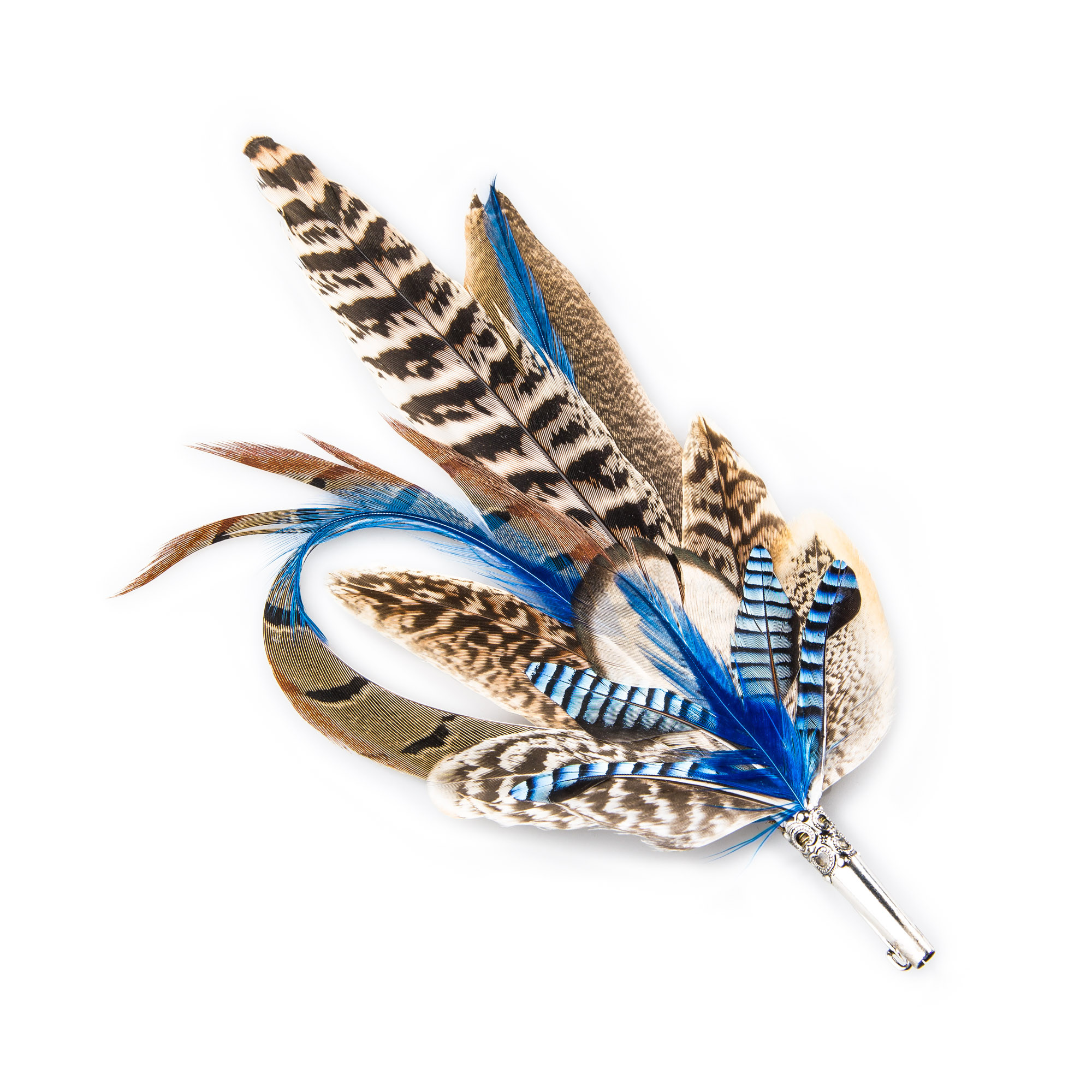 ad02487e Blue Feather Hat Pin | W.R. & Co Ltd
